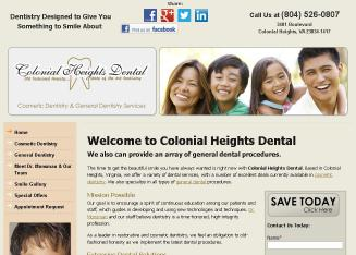 Results 1 - 25 of 128  Directory of Colonial Heights Dentists in VA yellow pages. Find Dentists in    Colonial Heights Dental - John Monsman DDS *. 5 of 5 stars