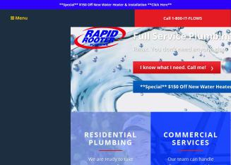 Rapid+Rooter Website