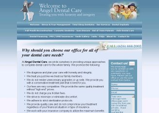 Angel+Dental+Care Website