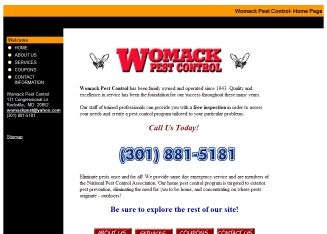Womack+Pest+Control Website