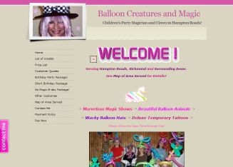 Balloon+Creatures+%26+Magic+By+Susan Website
