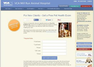 VCA+Mill+Run+Animal+Hospital Website