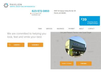 Pavilion+Dental+Group Website