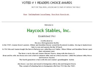 Haycock+Riding+Stables+Inc Website