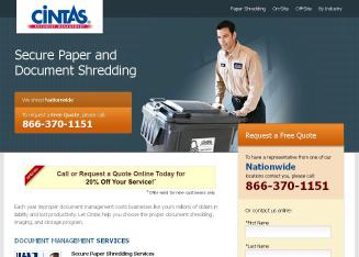 Cintas+Document+Management Website