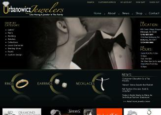 Urbanowicz+Jewelers Website