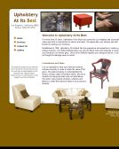 The Best Finishes and Upholstery by Carl