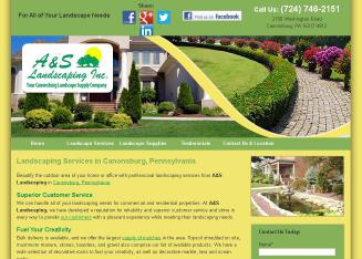 A+%26+S+Landscaping Website