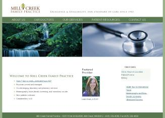 Mill+Creek+Family+Practice Website