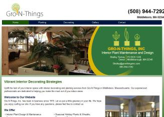 Gro-N-Things+Inc. Website