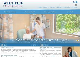 Whittier+Rehabilitation+Hospital Website