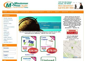 Minuteman+Press+Austin+Printing Website