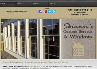 Skinner%27s+Custom+Screens Website
