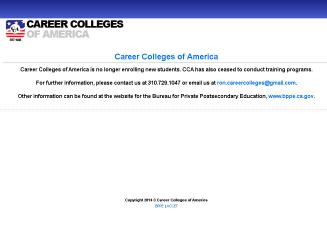 Career+Colleges+of+America Website