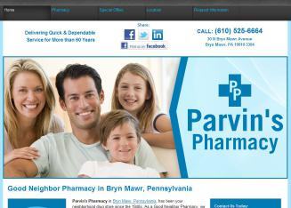 Parvins+Pharmacy Website