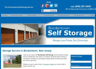 Bordentown+Self-Storage Website