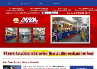 Havana+Auto+Parts Website