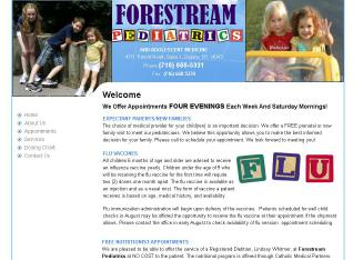 Forestream+Pediatrics+LLP Website