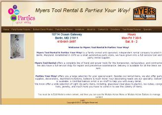 Myers+Tool+Rental+%26+Parties+Your+Way%21 Website