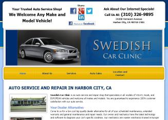 Swedish+Car+Clinic Website