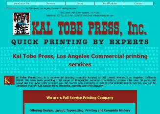 Kal+Tobe+Press+Inc Website