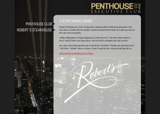 Robert's Steakhouse at the Penthouse Executive Club
