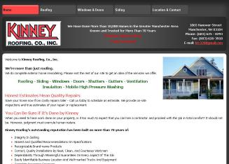 Kinney+Roofing+Co+Inc Website