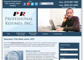 Professional+Resumes+Inc. Website