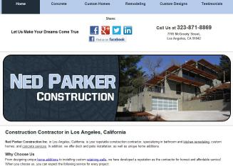 Ned+W+Parker+Construction Website