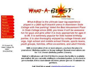 What+A+Blast+Laser+Tag Website