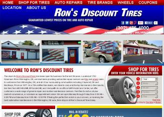 Ron%27s+Discount+Tires Website