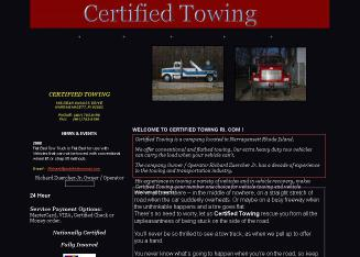 Certified+Towing Website