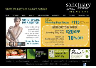 Sanctuary+Salonspa Website