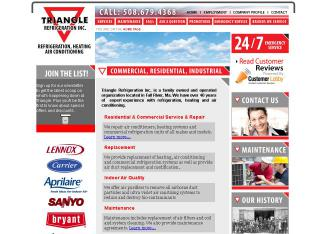 Triangle+Refrigeration+%26+Air Website
