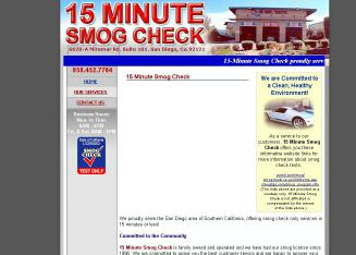 15+Minute+Smog+Check Website