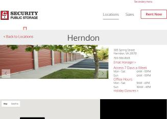 Security+Public+Storage+in+Herndon Website