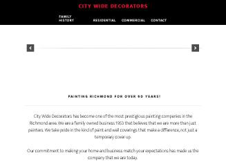 City+Wide+Decorators+INC Website
