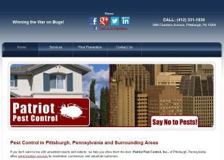Patriot+Pest+Control+Inc. Website