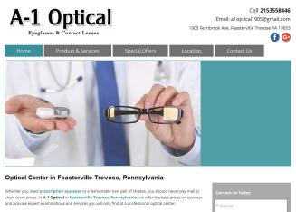 A-1+Optical Website