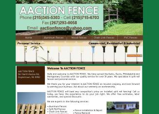 Aaction+Fence Website
