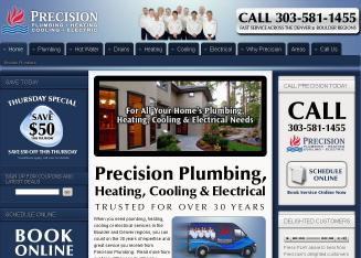 Call+Precision+Plumbing+Heating+%26+Cooling+Today Website