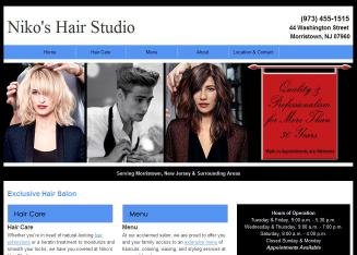 Niko%27s+Hair+Studio Website