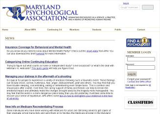 Maryland+Psychological+Association Website