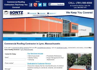 Sontz+Max+Roofing+Services+Inc Website