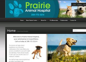 Prairie+Animal+Hospital Website
