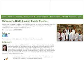 North+Country+Family+Practice Website