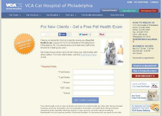 VCA+Cat+Hospital+of+Philadelphia Website