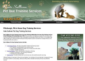 Kate+Sullivan+Pet+Dog+Training+Service Website