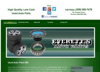 Everett%27s+Auto+Parts Website