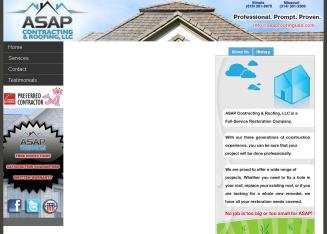 ASAP+Contracting+%26+Roofing%2C+LLC Website